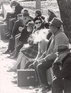 Smoking on the Common in 1969.